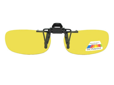 Rectangle Polarized Yellow Lens Flip Up