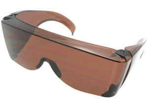 Style F30 Largest Sun Shield Fit Over Sunglass Dark Amber Lenses