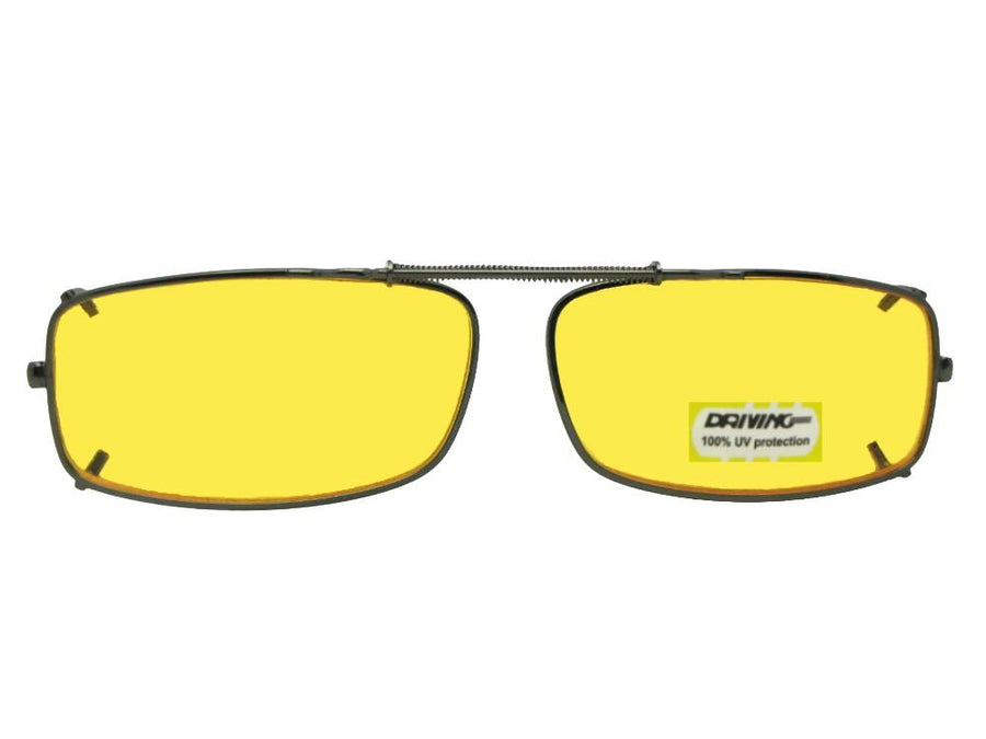 Extra Skinny Rectangle Yellow Lens Clip-on