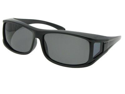Style F11 Polarized Sunglasses Over Glasses