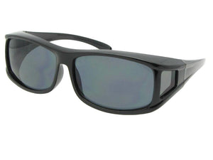 Style F11 Non Polarized Wrap Around Fit Over SunglassesBlack Frame Non Polarized Gray Lenses