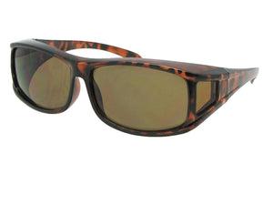 Style F11 Non Polarized Wrap Around Fit Over Sunglasses Tortoise Frame Non Polarized Brown Lenses