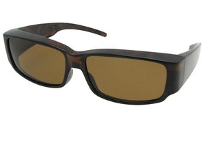 Style F25 Small Sunglasses Over Sunglasses Tortoise Frame Brown Lens