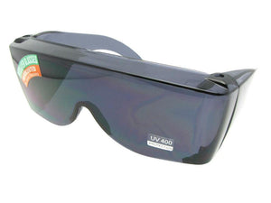Style F30 Largest Sun Shield Fit Over Sunglass Gray Lenses