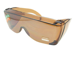 Style F30 Largest Sun Shield Fit Over Sunglass Amber Lenses
