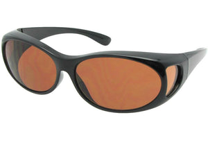 Style F3 Small Non Polarized Over Glasses Black Non Polarized Amber Lenses