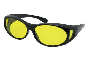 Style F3 Best Small Size Polarized Over Glasses Black Frame Light Yellow Lenses