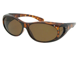 Style F3 Small Fashion Fit Over With Rhinestones Lite Tortoise Brown Lenses