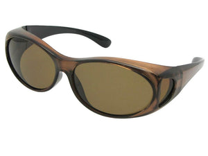 Style F3 Best Small Size Polarized Over Glasses Brown Frame Brown Lenses