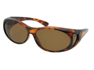 Style F3 Best Small Size Polarized Over Glasses Tortoise Brown Lenses