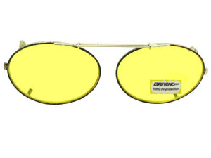 Oval Yellow Lenses Gold Brown Frame Yellow Lens