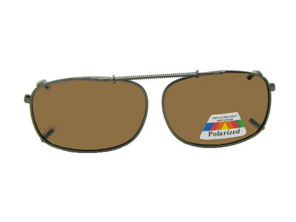 Rectangle Polarized Clip On Sunglasses