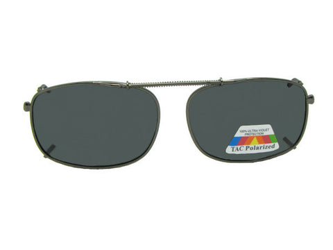 Rectangle Polarized Clip-on Sunglasses