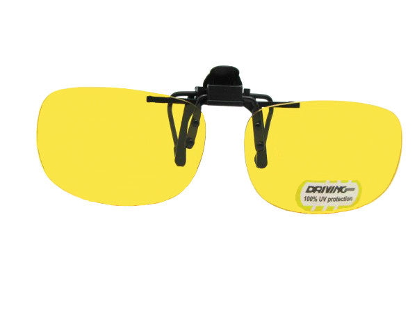 Flip Up Rectangle Yellow Non Polarized Black Flip-Non Pol Yellow Lens