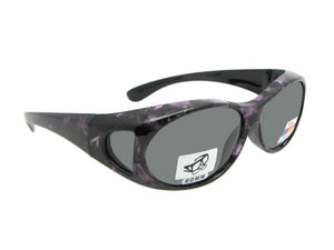 Style F3 Small Polarized Marble Color FramesMarble Purple Medium Dark Gray Lens
