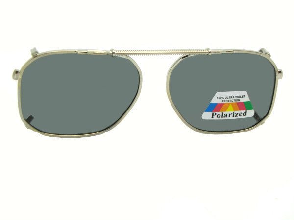 Modified Aviator Polarized Clipon Sunglasses