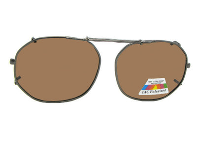 Round Square Polarized Clip-on