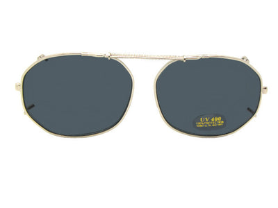 Round Square Non Polarized Clip On Sunglasses
