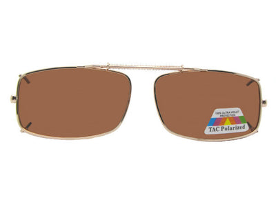 Slim Rectangle Polarized Clip-on