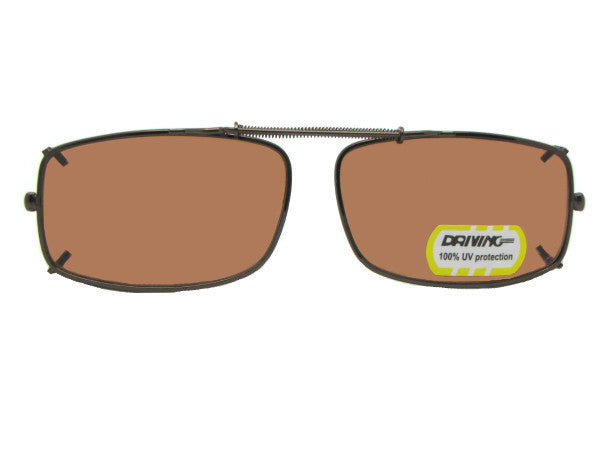 Slim Rectangle Non Polarized Amber Clip-on