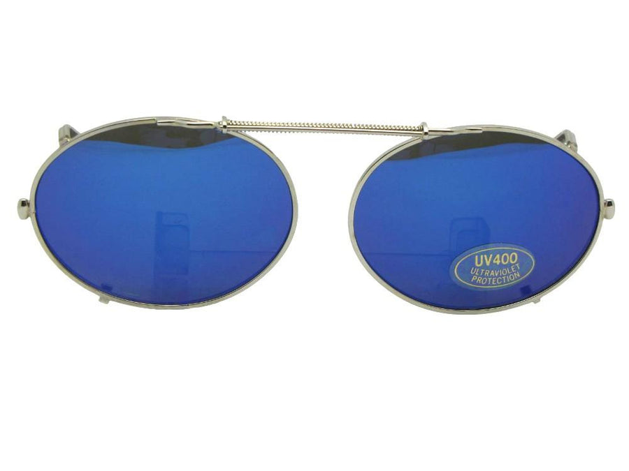 Oval Color Mirror Clip-on Sunglasses
