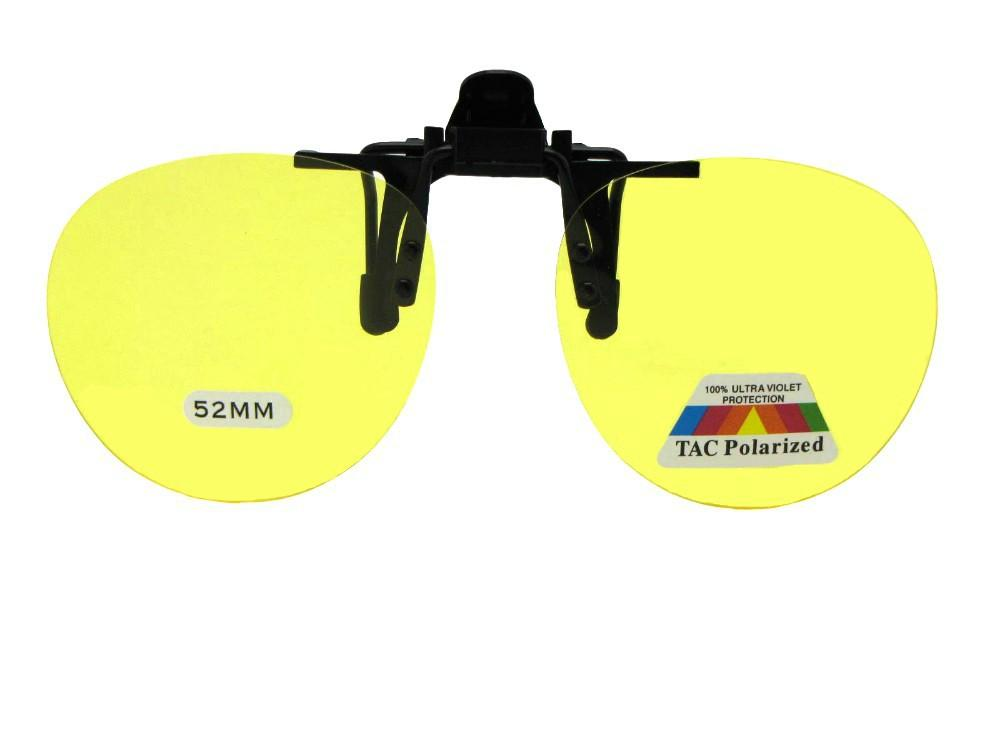 Polarized Round Shape Flip Up Black Frame Polarized Gray Lenses
