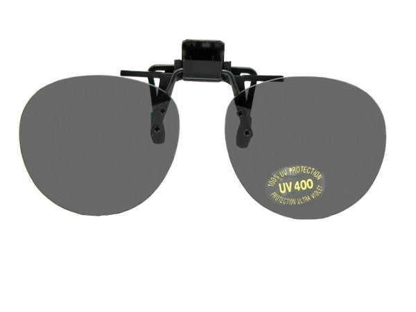 Round Flip Up Clip On Sunglasses