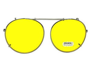 Semi Round Non Polarized Yellow Pewter Light Yellow Lenses