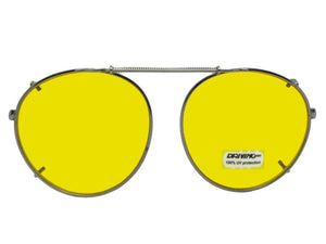 Semi Round Non Polarized Yellow Pewter Dark Yellow Lenses