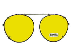 Semi Round Non Polarized Yellow Dark Black Yellow Lenses