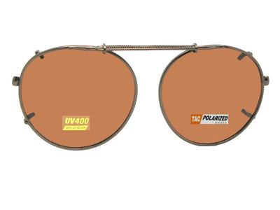 Semi Round Polarized Clip On Sunglasses