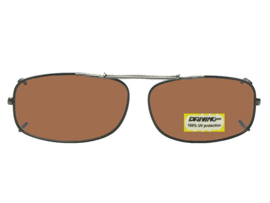 Skinny Curved Rectangle Non Polarized Amber