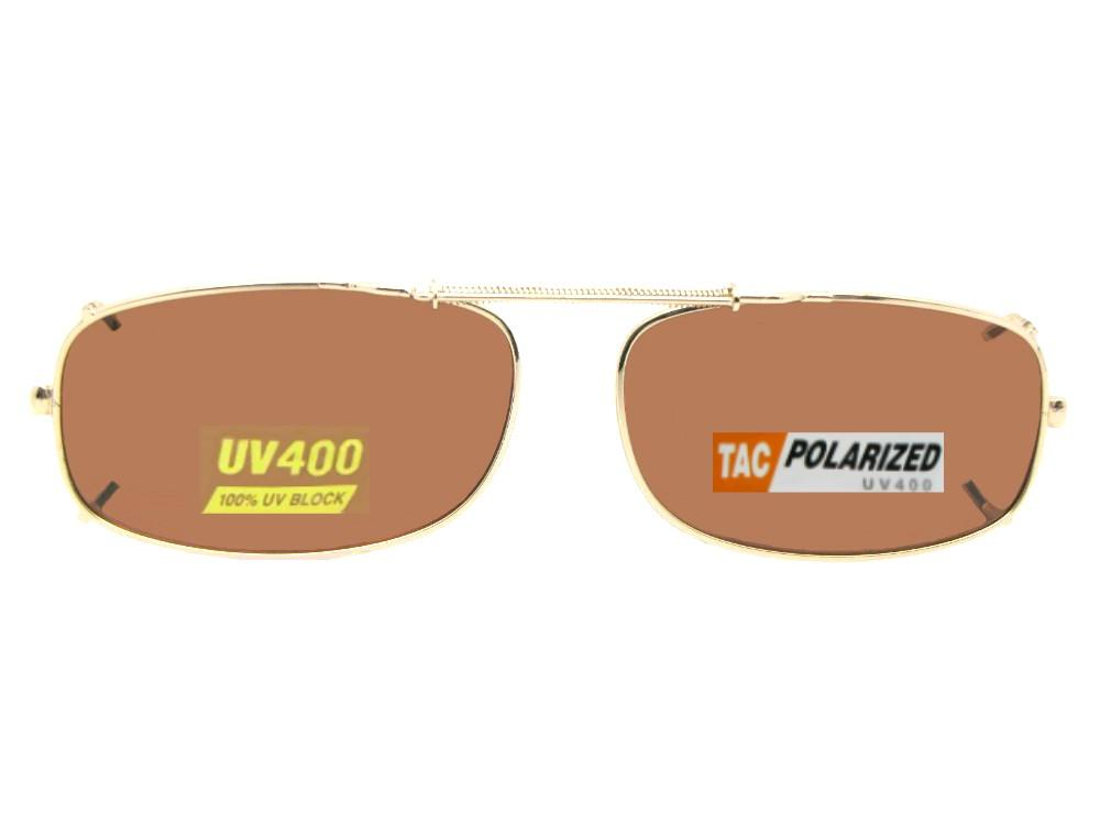 Skinny Curved Rectangle Polarized Amber Lens Dark Bronze Polarized Amber Lenses