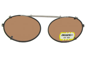 Oval Non Polarized Amber Black Frame Amber Lenses