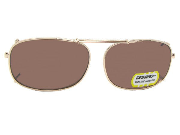 Rectangle Non Polarized Amber Clip Ons