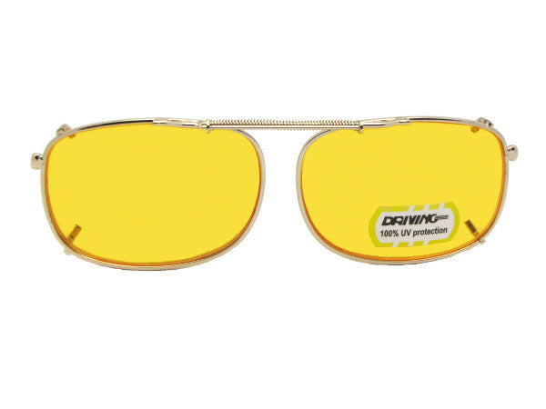 0598198ac8 Rectangle Non Polarized Yellow Clip-ons - CliponSunglasses.com