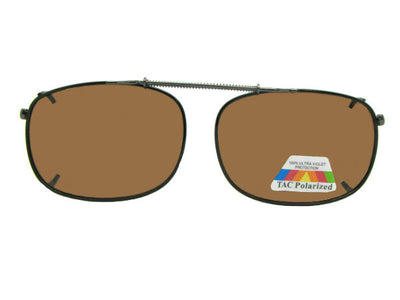 Rectangle Polarized Amber Clip-ons