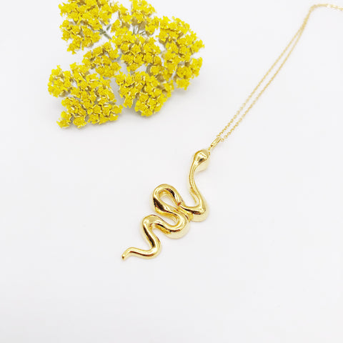 Gold Snake Charmer Necklace