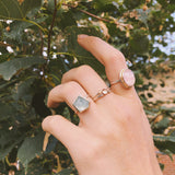 Point Aquamarine Ring