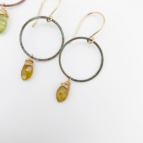 Marquee Patina Hoops