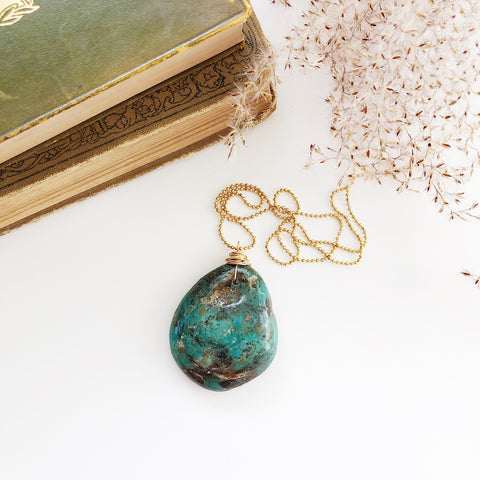 Large Turquoise Drop Necklace