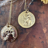 Double Sided Greek Coin Necklace