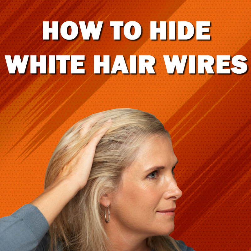How To Hide White Hair Wires