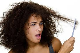 Do not comb dry curly hair!