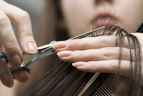 How to cut hair alone