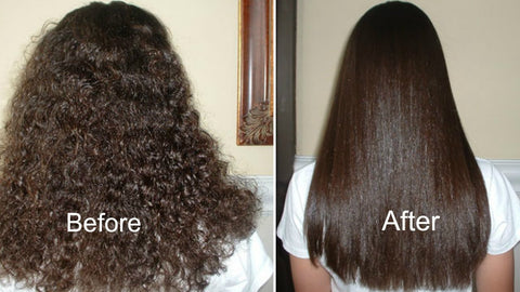 Before and after straightening treatment
