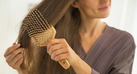 Combing your hair right can help hair growth