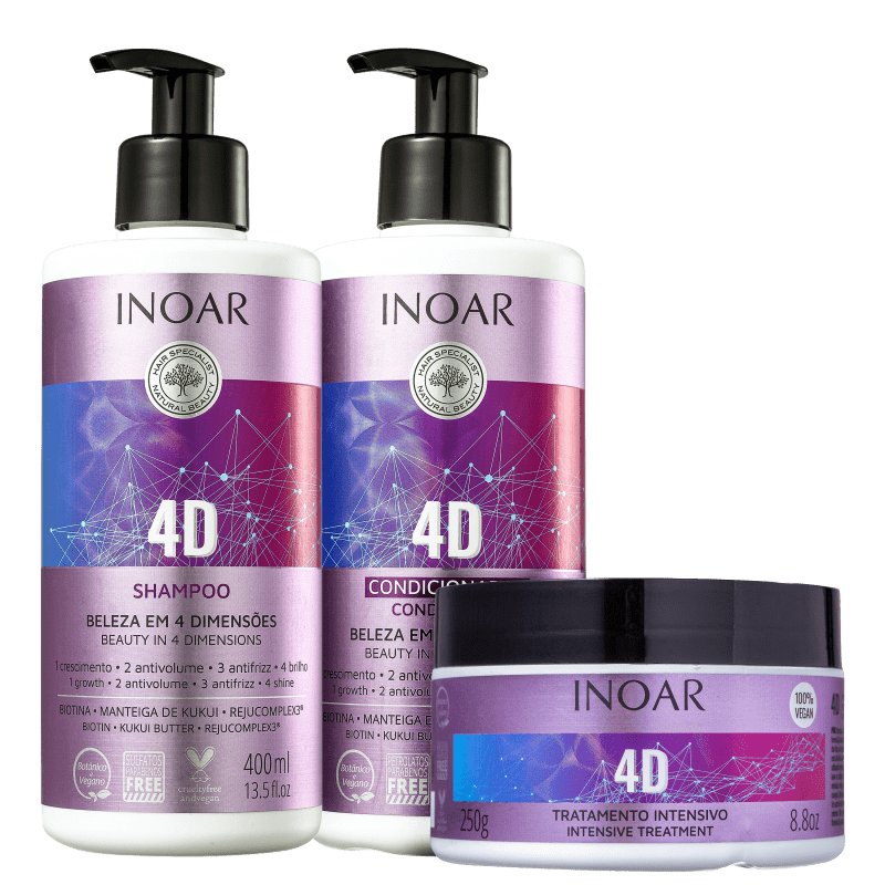 Inoar 4D Hair Care Hydration Kit - Keratinbeauty