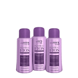 PLASTICA DOS FIOS BRAZILIAN KERATIN 3 STEPS TREATMENT KIT 3 X 60ml (2.02oz) - Keratinbeauty
