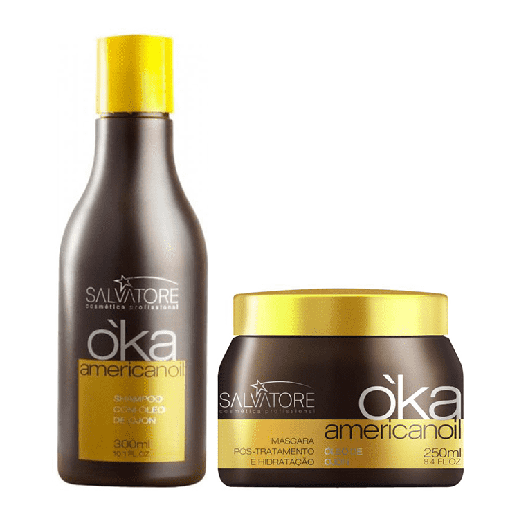 SALVATORE OKA AMERICANOIL  HAIR HYDRATING TREATMENT KIT 300ml/10,13fl.oz. - Keratinbeauty